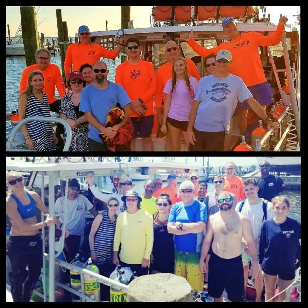 Oriskany, Pete Tide II & Oceanwinds Dive Report September 16, 2017