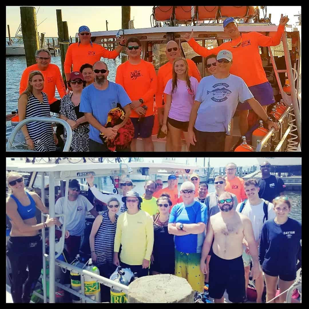 Oriskany, Pete Tide II & Oceanwinds Dive Report September 16, 2017